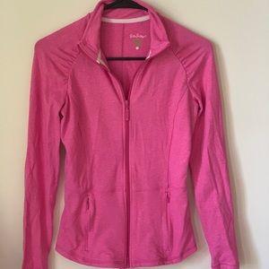 Lilly Pulitzer Zip Up Pink Sweatshirt
